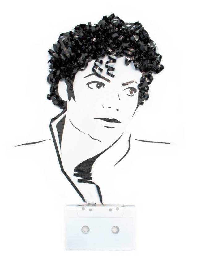 Recycled Cassette Tapes Made Into MJ