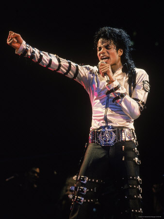 Michael Jackson Singing Performance Poster